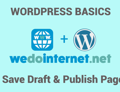 How to Save Draft and Publish a Page in WordPress