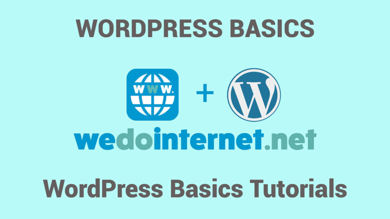 WordPress Basics Tutorials